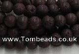 CLV202 15.5 inches 10mm round coffee natural lava beads wholesale