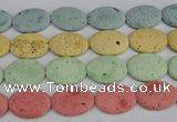 CLV306 15.5 inches 25*35mm oval lava beads wholesale