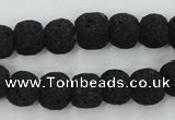 CLV380 15.5 inches 12mm ball dyed lava beads wholesale