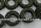 CLV409 15.5 inches 8*20mm donut dyed lava beads wholesale