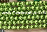 CLV536 15.5 inches 6mm round plated lava beads wholesale