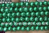 CLV537 15.5 inches 6mm round plated lava beads wholesale