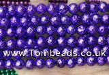 CLV559 15.5 inches 10mm round plated lava beads wholesale