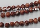 CMA201 15.5 inches 6mm round red malachite beads wholesale