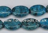 CMB48 15.5 inches 13*18mm oval dyed natural medical stone beads