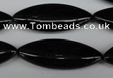 CME10 15.5 inches 15*40mm marquise black agate gemstone beads