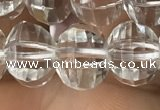 CME230 15.5 inches 10*11mm - 10*12mm pumpkin white crystal beads