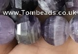 CME239 15.5 inches 10*11mm - 10*12mm pumpkin dogtooth amethyst beads