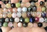 CME255 15.5 inches 10*11mm - 11*12mm pumpkin mixed gemstone beads