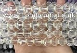 CME300 15.5 inches 8*11mm - 9*12mm pumpkin white crystal beads
