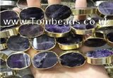 CME502 12 inches 18*28mm - 20*30mm oval amethyst beads