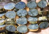 CME510 12 inches 18*28mm - 20*30mm flat teardrop labradorite beads