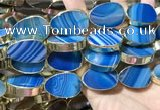 CME530 12 inches 18*28mm - 20*30mm flat teardrop banded agate beads