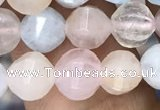 CMG307 15.5 inches 6mm faceted round morganite beads