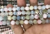 CMG346 15.5 inches 8mm faceted round morganite beads wholesale