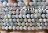 CMG386 15.5 inches 6mm faceted round morganite beads wholesale