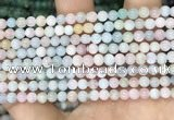CMG401 15.5 inches 4mm round morganite beads wholesale