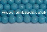 CMJ275 15.5 inches 6mm round Mashan jade beads wholesale