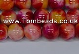 CMJ403 15.5 inches 10mm round rainbow jade beads wholesale