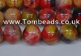 CMJ487 15.5 inches 10mm round rainbow jade beads wholesale