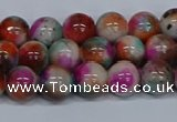 CMJ493 15.5 inches 8mm round rainbow jade beads wholesale