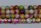 CMJ589 15.5 inches 4mm round rainbow jade beads wholesale