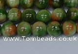 CMJ675 15.5 inches 8mm round rainbow jade beads wholesale