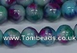 CMJ691 15.5 inches 12mm round rainbow jade beads wholesale