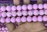 CMJ814 15.5 inches 12mm round matte Mashan jade beads wholesale