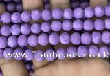 CMJ818 15.5 inches 10mm round matte Mashan jade beads wholesale