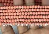 CMJ825 15.5 inches 4mm round matte Mashan jade beads wholesale