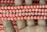CMJ826 15.5 inches 6mm round matte Mashan jade beads wholesale
