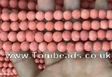 CMJ827 15.5 inches 8mm round matte Mashan jade beads wholesale