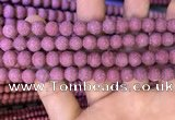 CMJ832 15.5 inches 8mm round matte Mashan jade beads wholesale