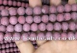 CMJ834 15.5 inches 12mm round matte Mashan jade beads wholesale
