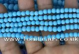 CMJ835 15.5 inches 4mm round matte Mashan jade beads wholesale