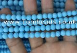 CMJ836 15.5 inches 6mm round matte Mashan jade beads wholesale