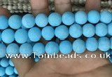 CMJ839 15.5 inches 12mm round matte Mashan jade beads wholesale