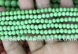 CMJ840 15.5 inches 4mm round matte Mashan jade beads wholesale