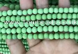 CMJ841 15.5 inches 6mm round matte Mashan jade beads wholesale