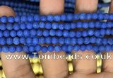 CMJ845 15.5 inches 4mm round matte Mashan jade beads wholesale