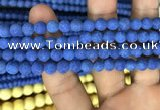 CMJ846 15.5 inches 6mm round matte Mashan jade beads wholesale