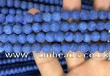 CMJ847 15.5 inches 8mm round matte Mashan jade beads wholesale