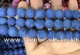 CMJ849 15.5 inches 12mm round matte Mashan jade beads wholesale