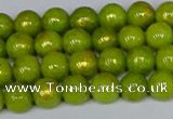 CMJ985 15.5 inches 4mm round Mashan jade beads wholesale