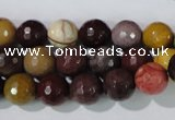 CMK213 15.5 inches 10mm faceted round mookaite gemstone beads