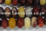 CMK222 15.5 inches 8*12mm rondelle mookaite gemstone beads