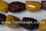 CMK234 15.5 inches 15*20mm faceted nuggets mookaite gemstone beads