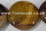 CMK247 15.5 inches 35mm flat round mookaite gemstone beads