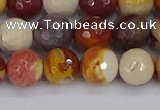 CMK318 15.5 inches 8mm faceted round mookaite gemstone beads
